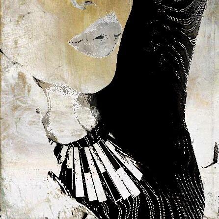 Foldaway Tote - Black & White Sketch by VIDA VIDA 4NXgV8