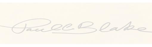 Paul C. Blake Signature