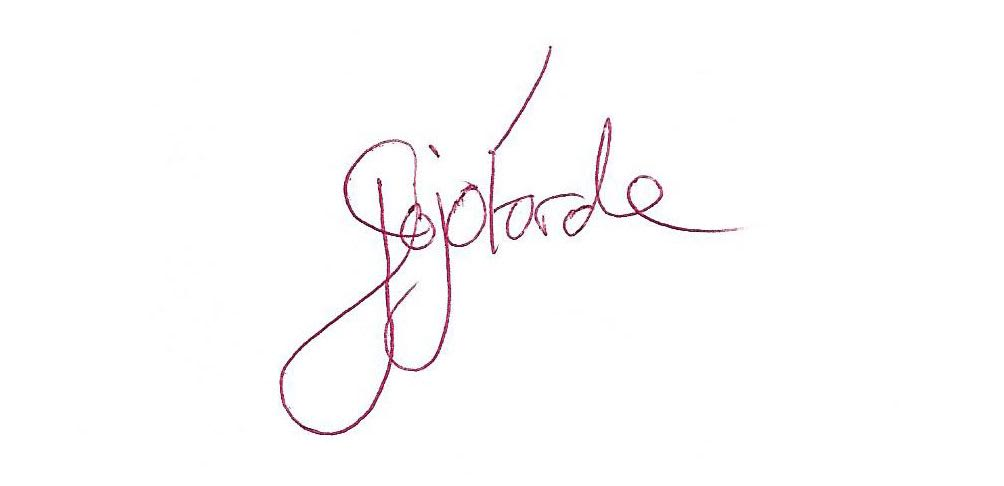 Joanne Forde Signature