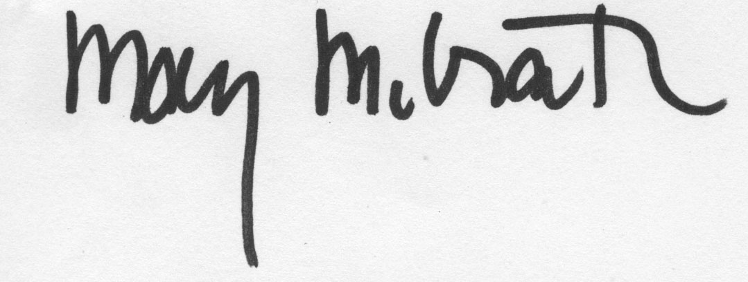 Mary McGrath Signature
