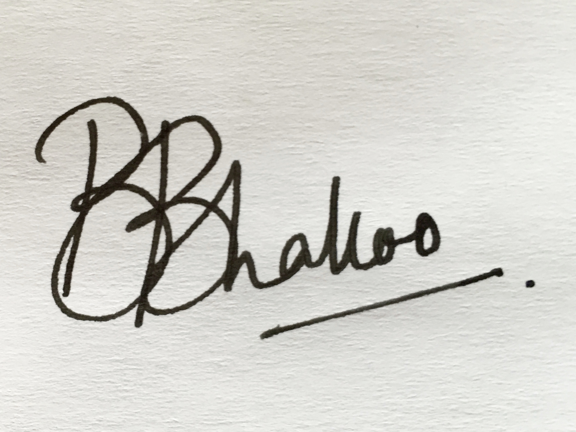 Bhavni Bhakoo Signature