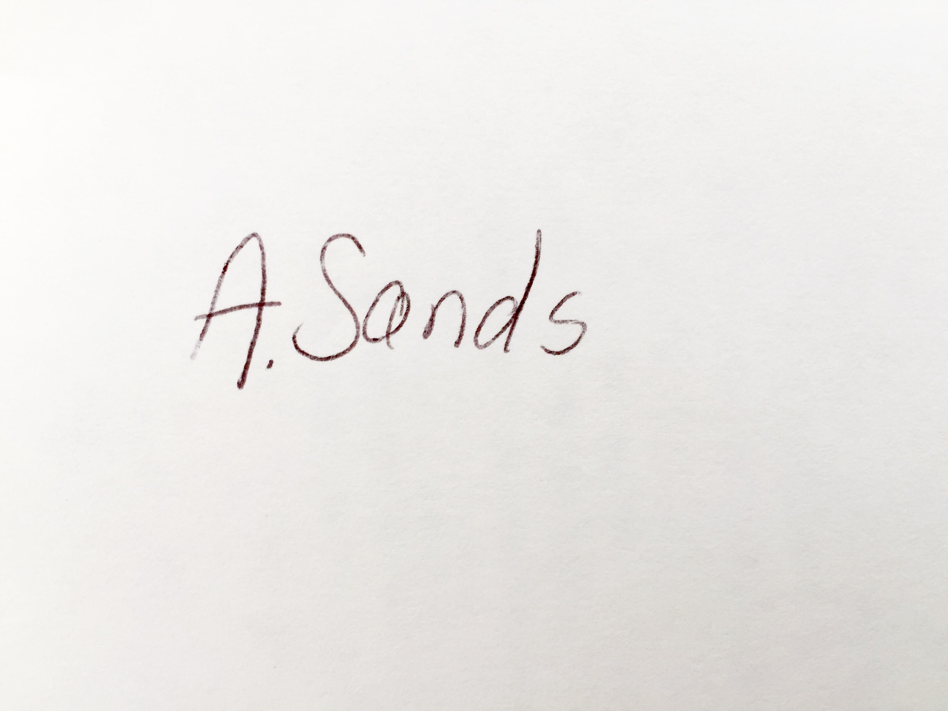 Anne Sands Signature