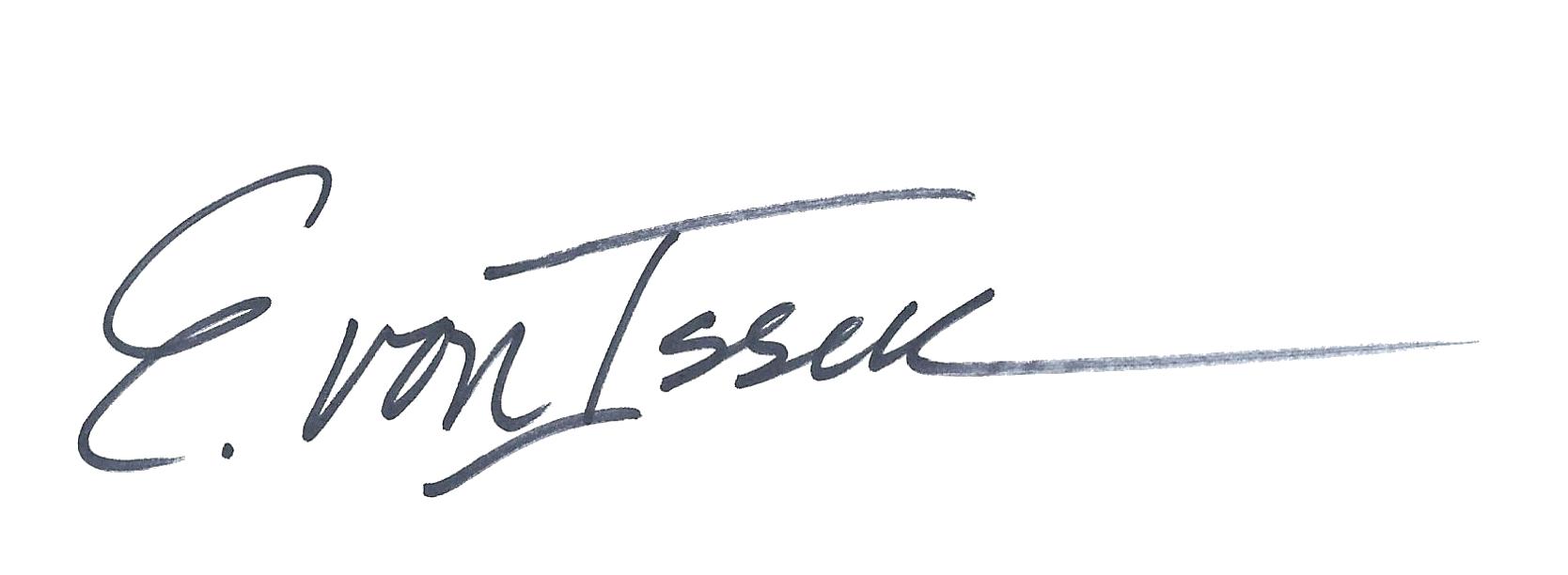 Elizabeth von Isser Signature