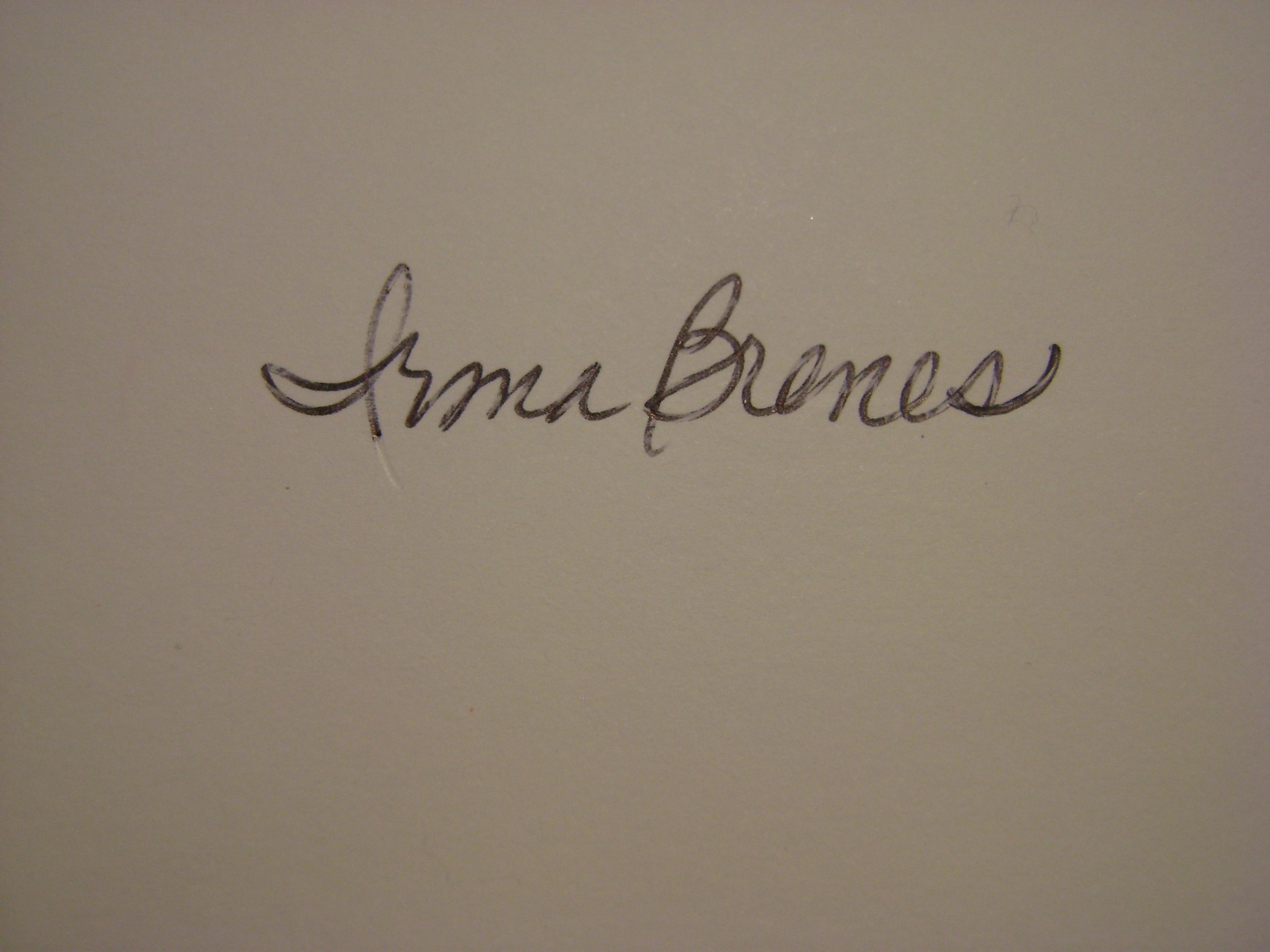 Irma Brenes Signature