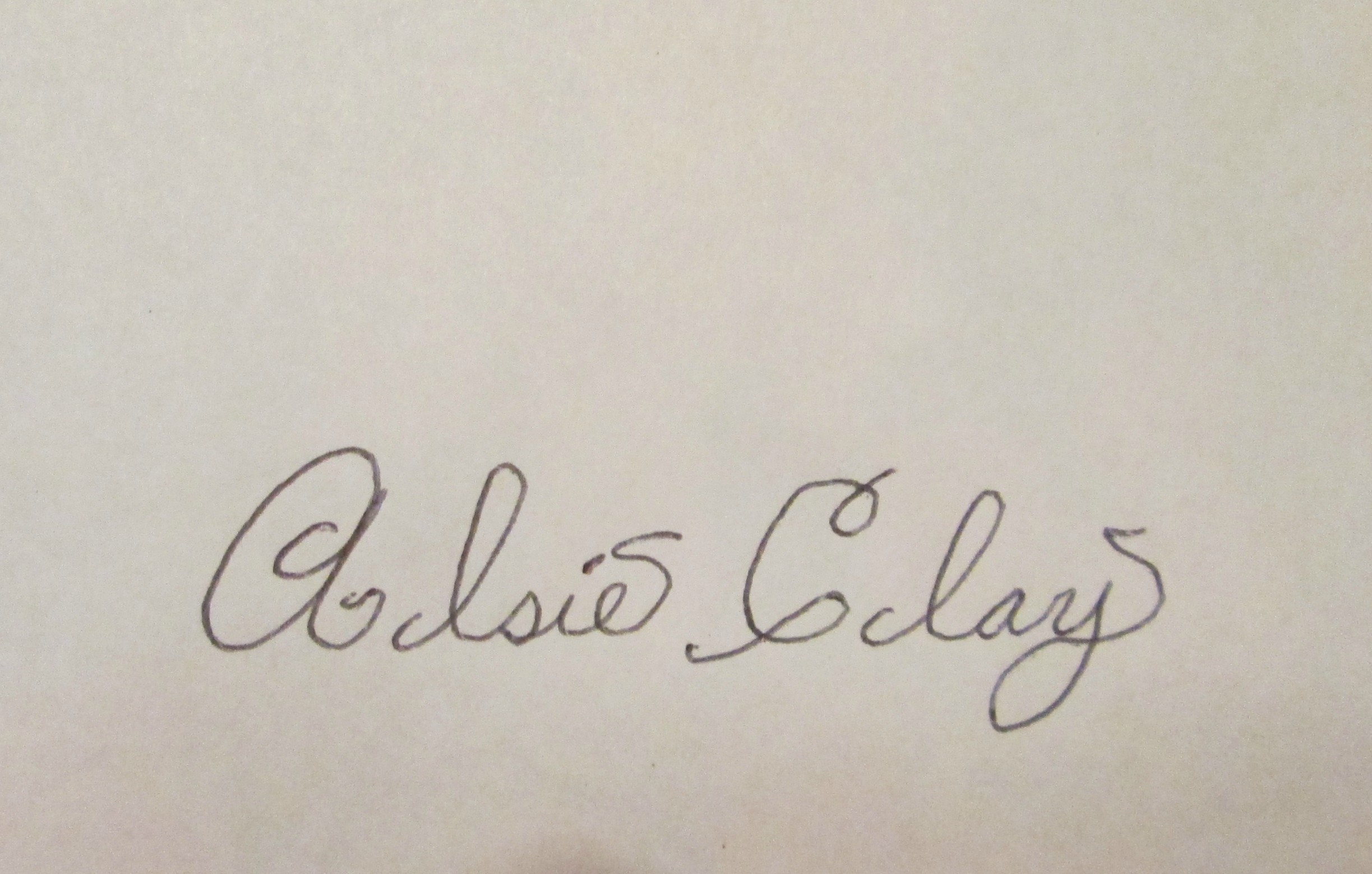 Alsie Clay Signature