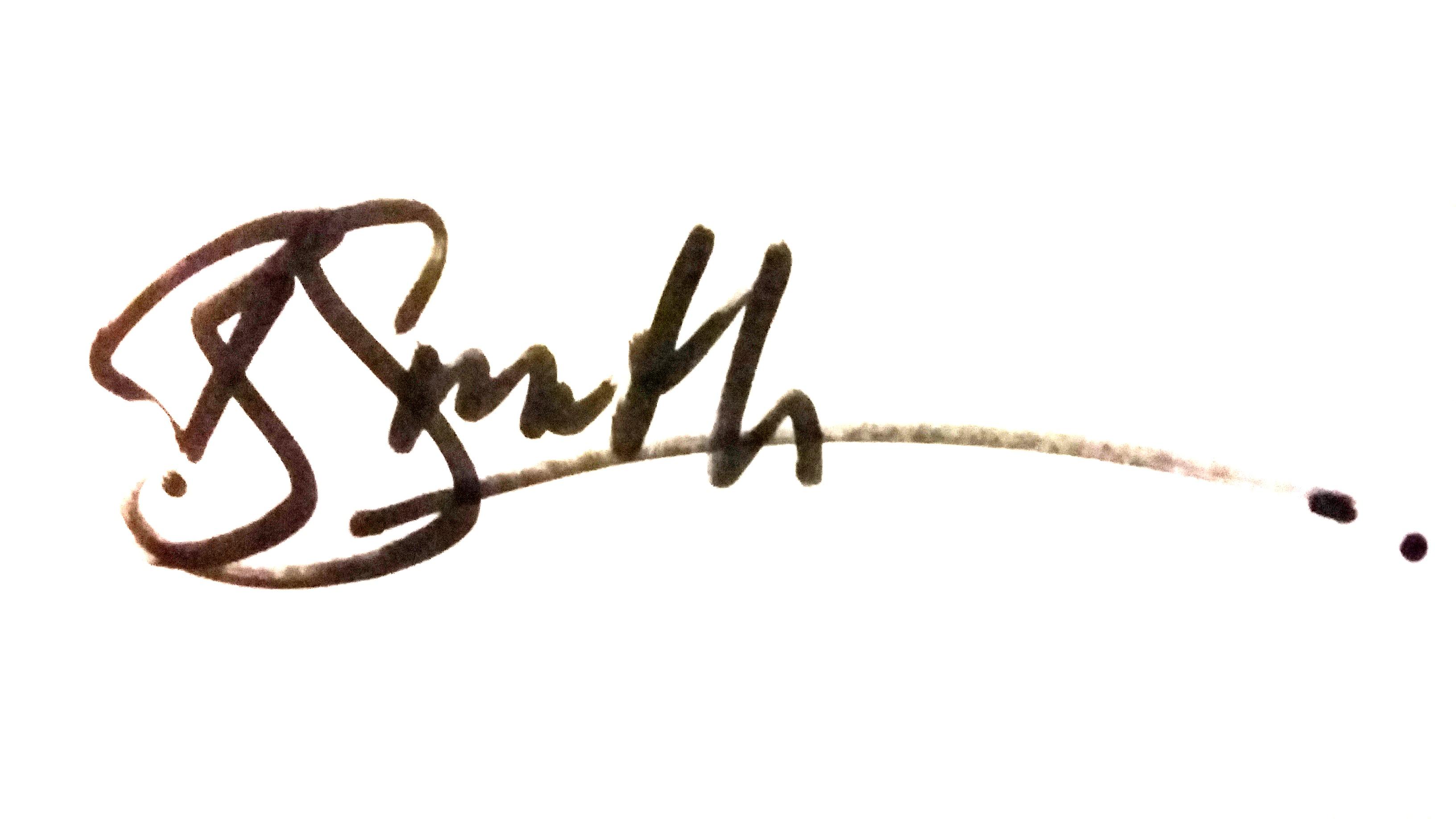 Ben Smith Signature