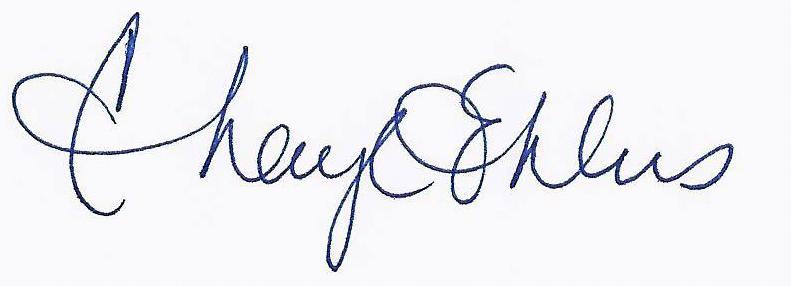 Cheryl Ehlers Signature