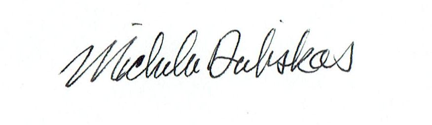 Michelle Dubiskas Signature