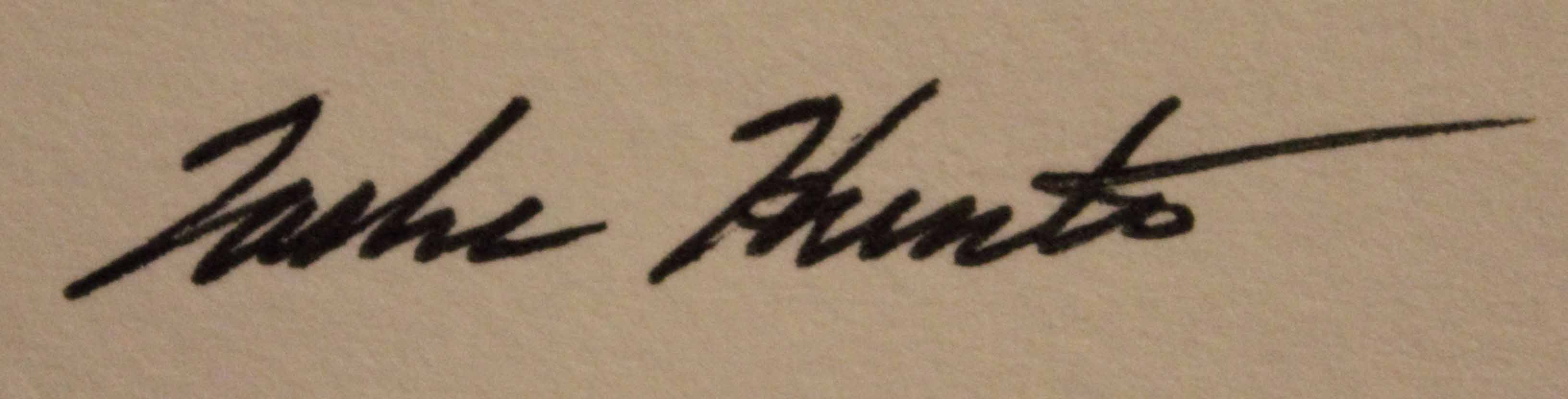 Tasha Hunter Signature