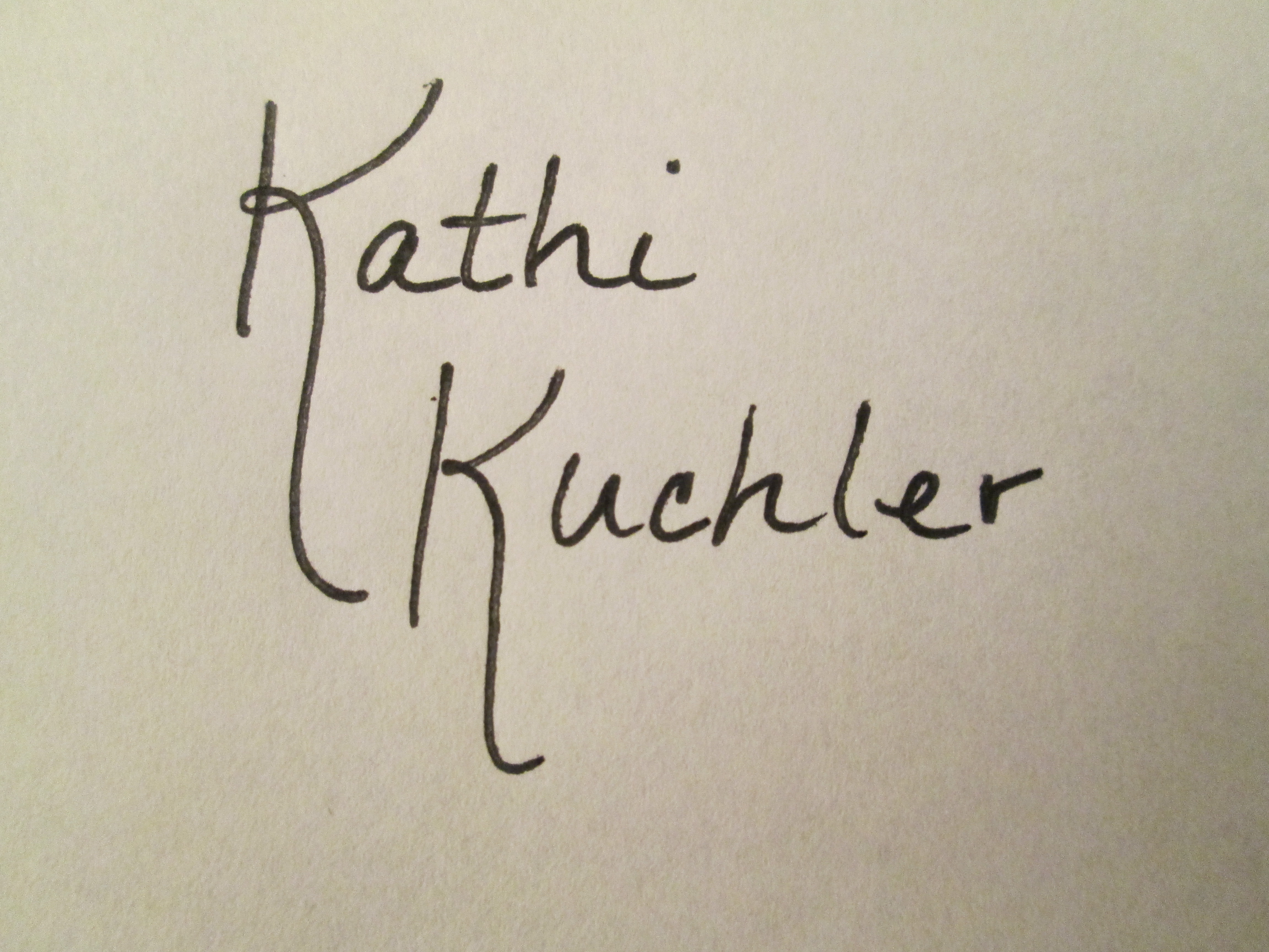 Kathi Kuchler Signature