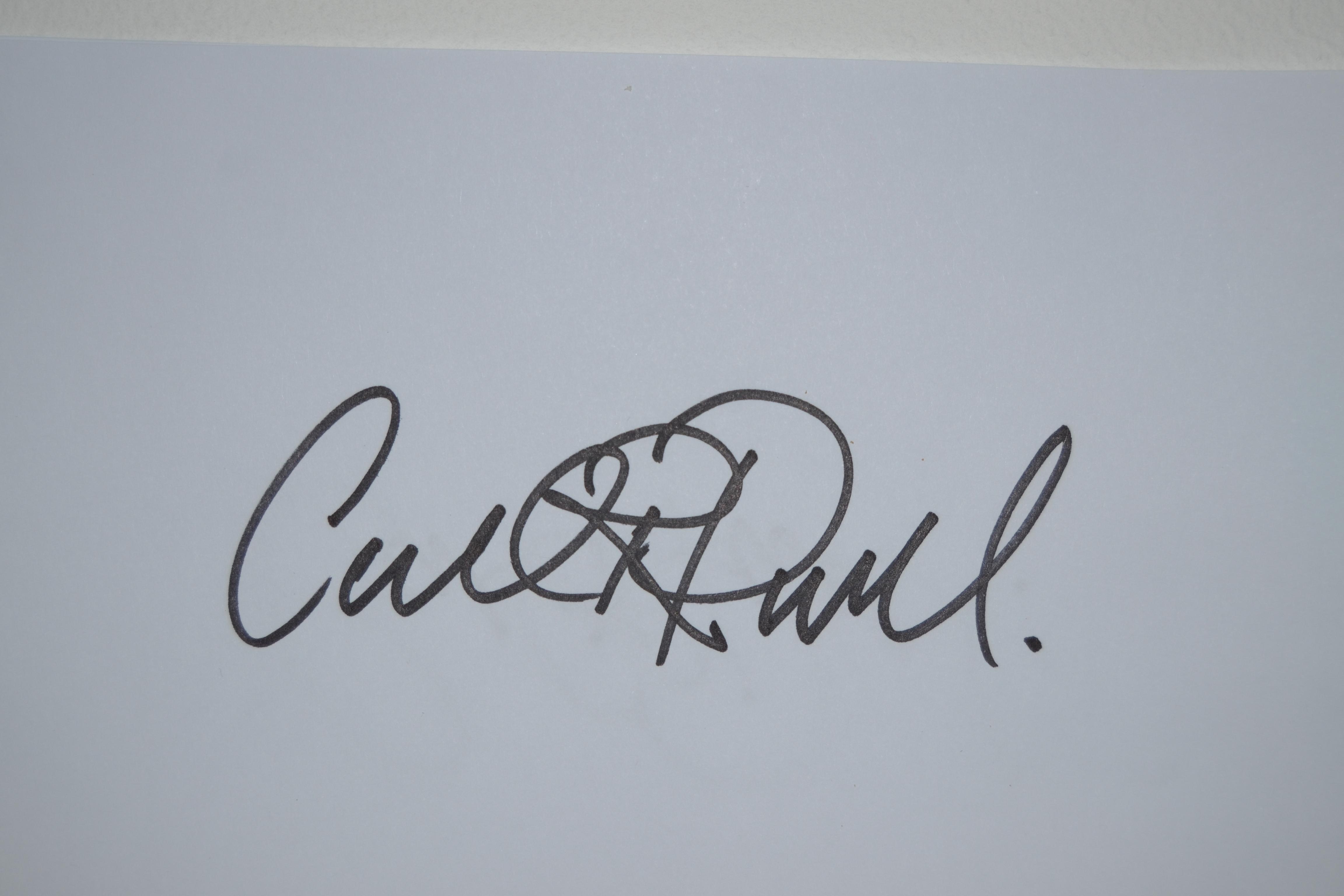 Carl Paul Signature