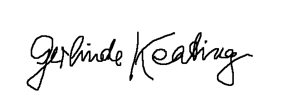 GERLINDE KEATING Signature