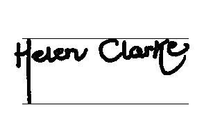 Helen Clarke Signature