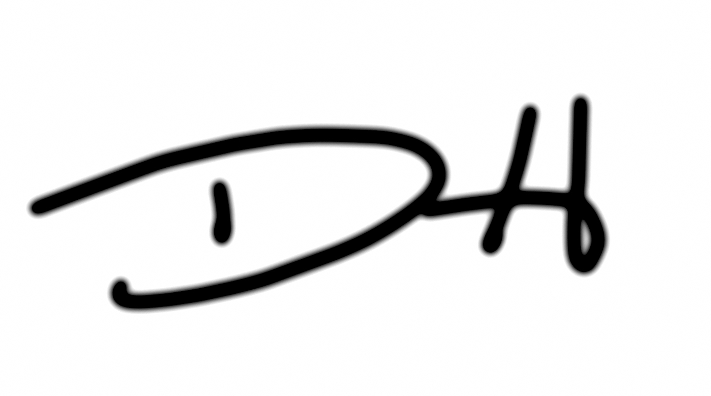 David f Horton Signature