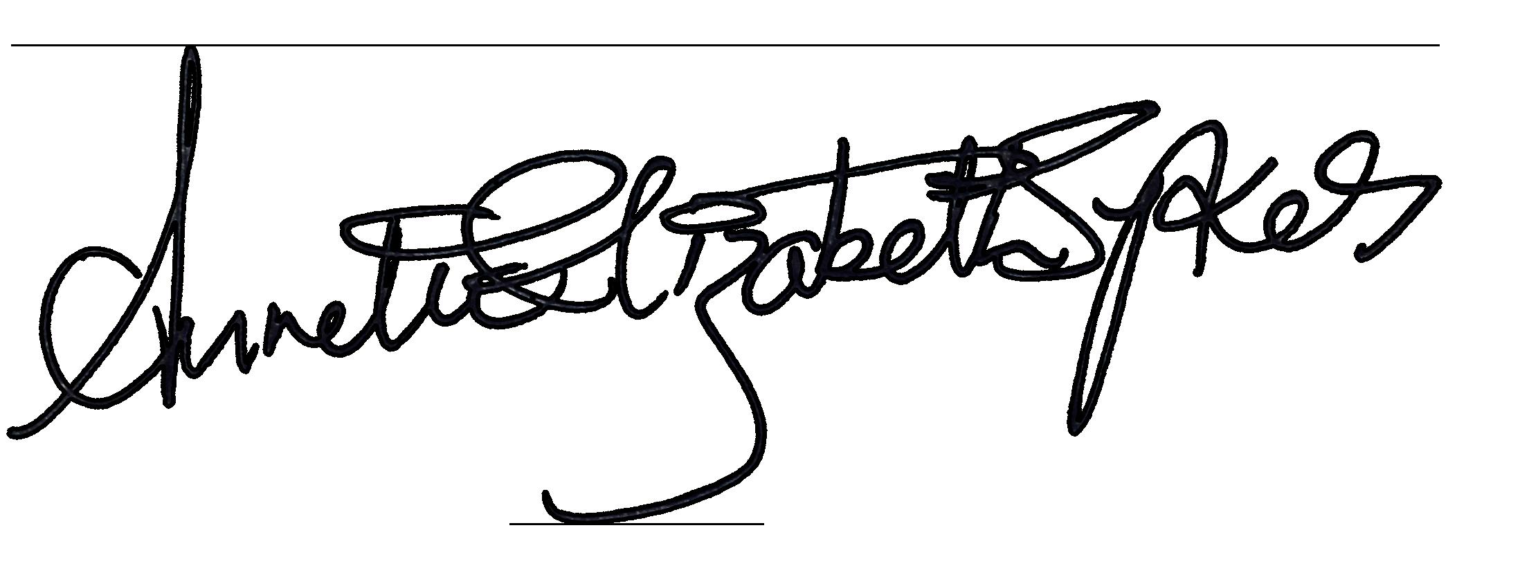 Annette Elizabeth Sykes Signature