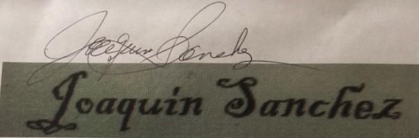 Joaquin Sanchez Signature