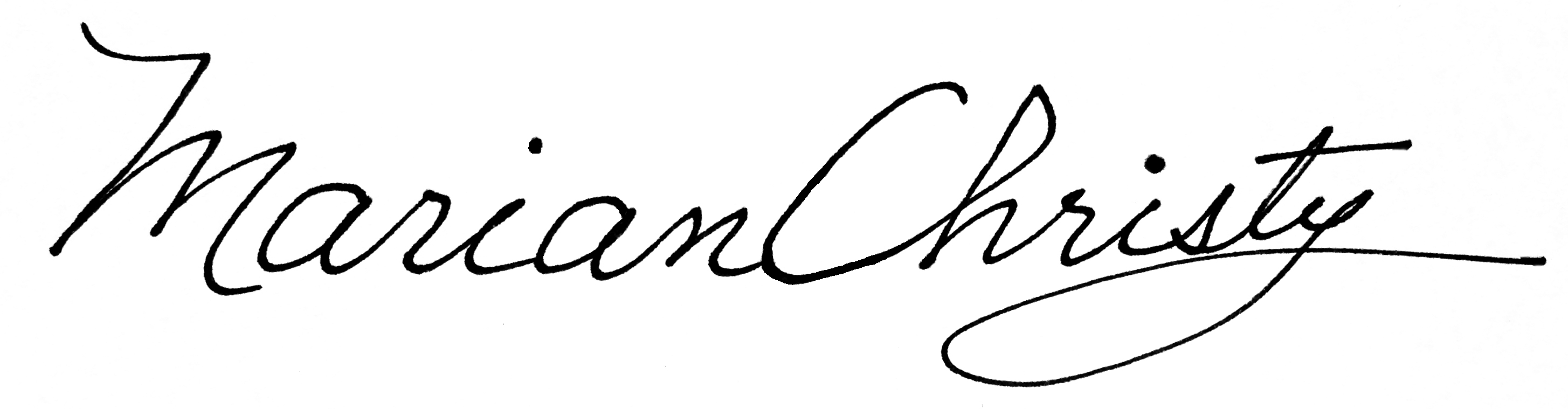 Marian Christy Signature