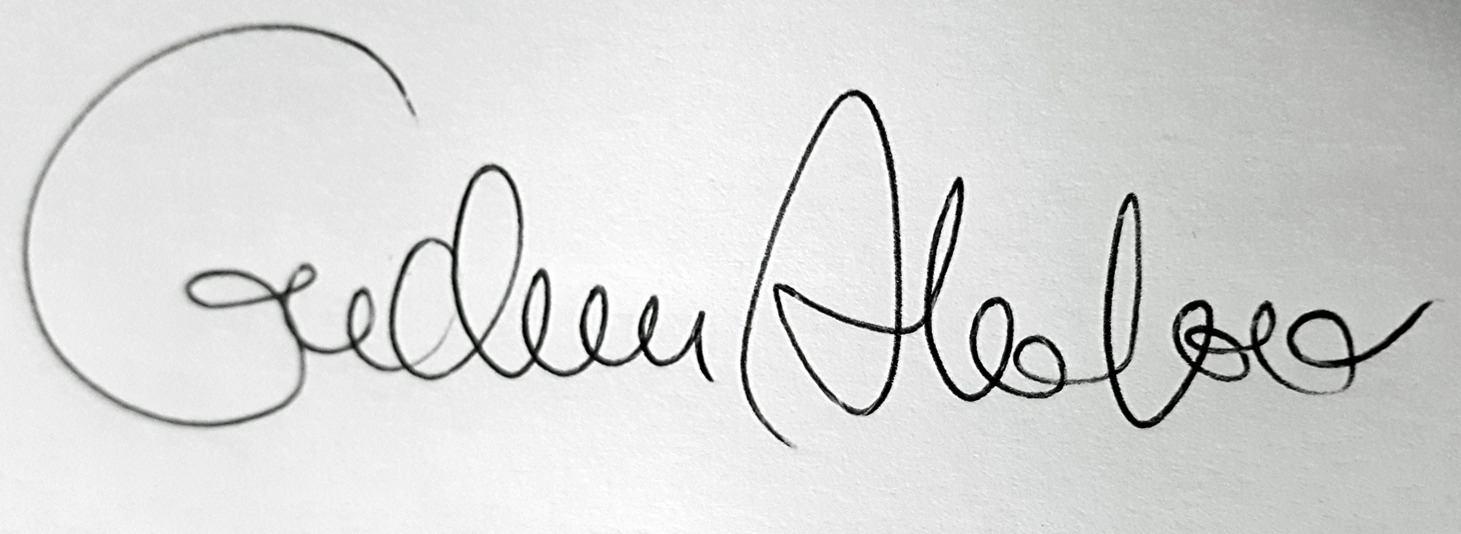 Gudrun Alvebro Signature