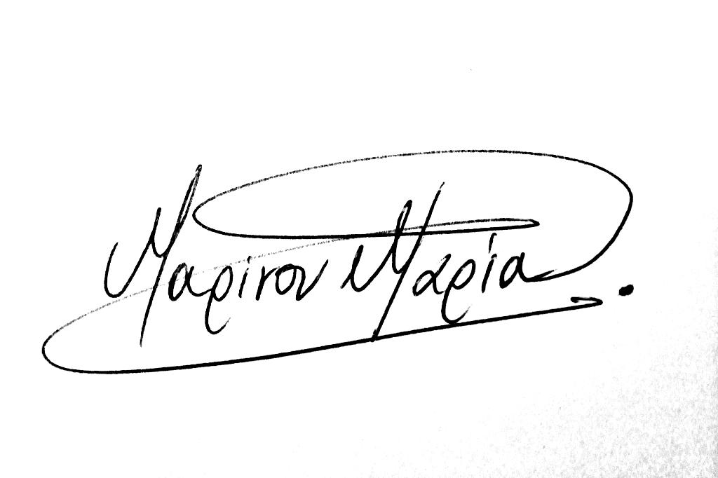 Maria Marinou Signature