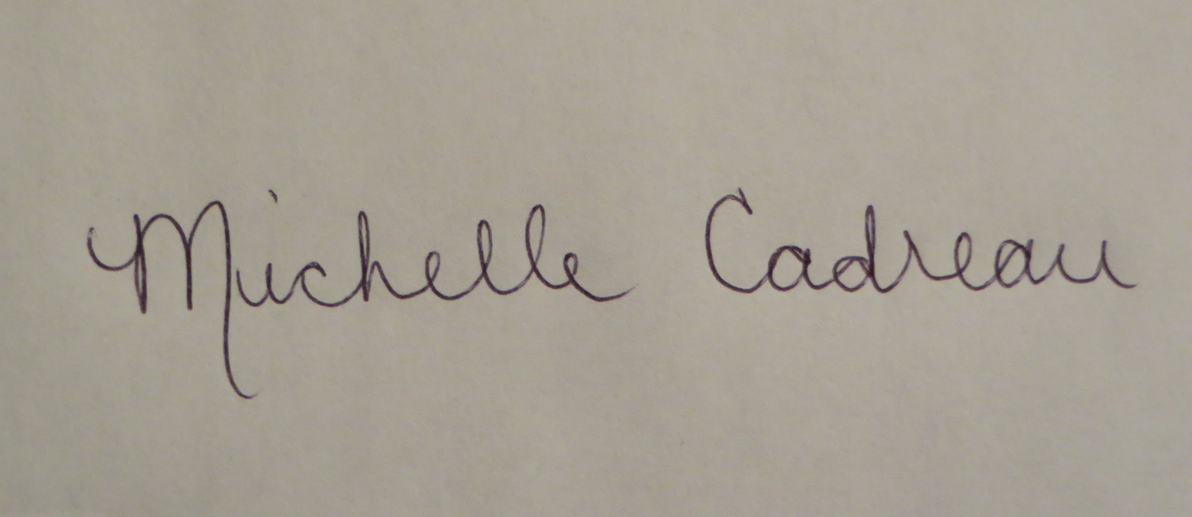 Michelle Cadreau Signature