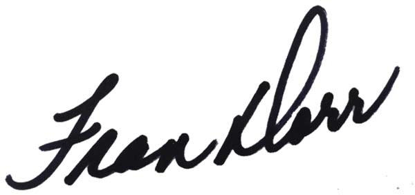Fran Dorr Signature