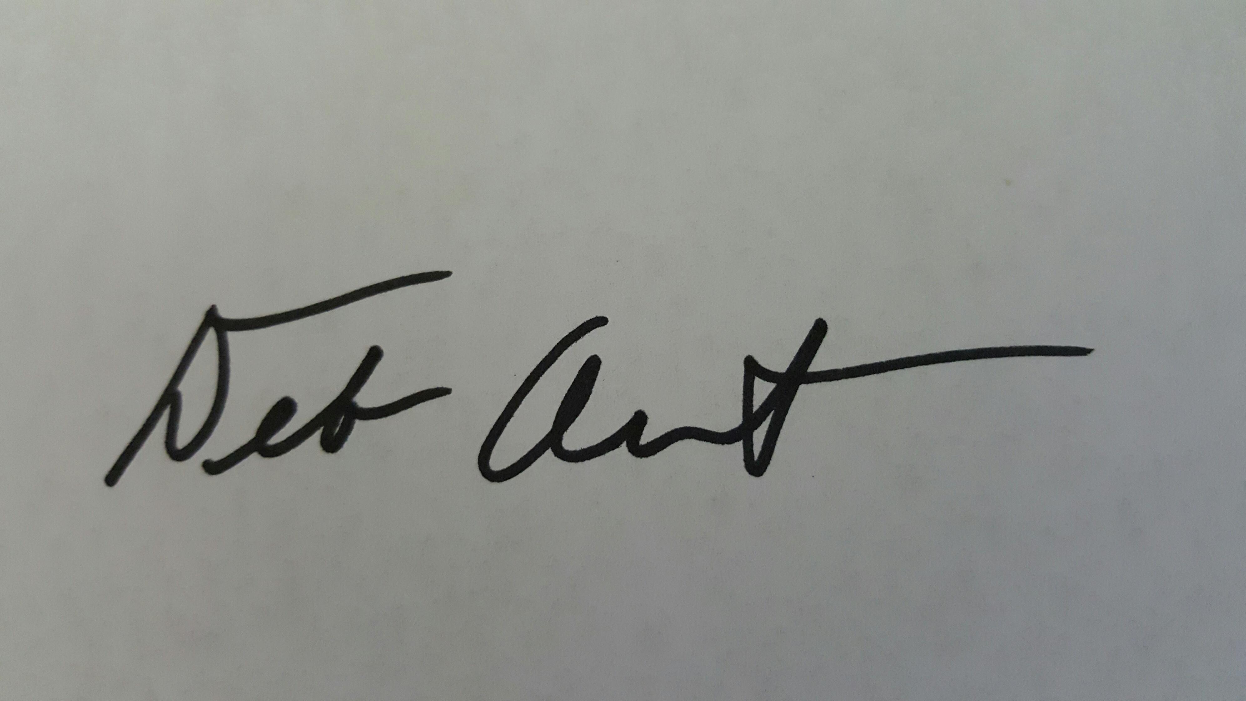 Deborah Arndt Signature