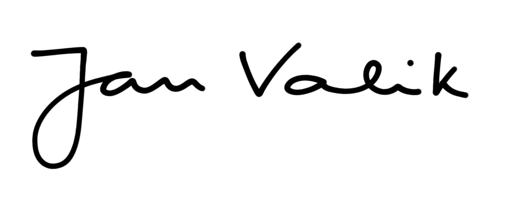 Jan  Valik Signature