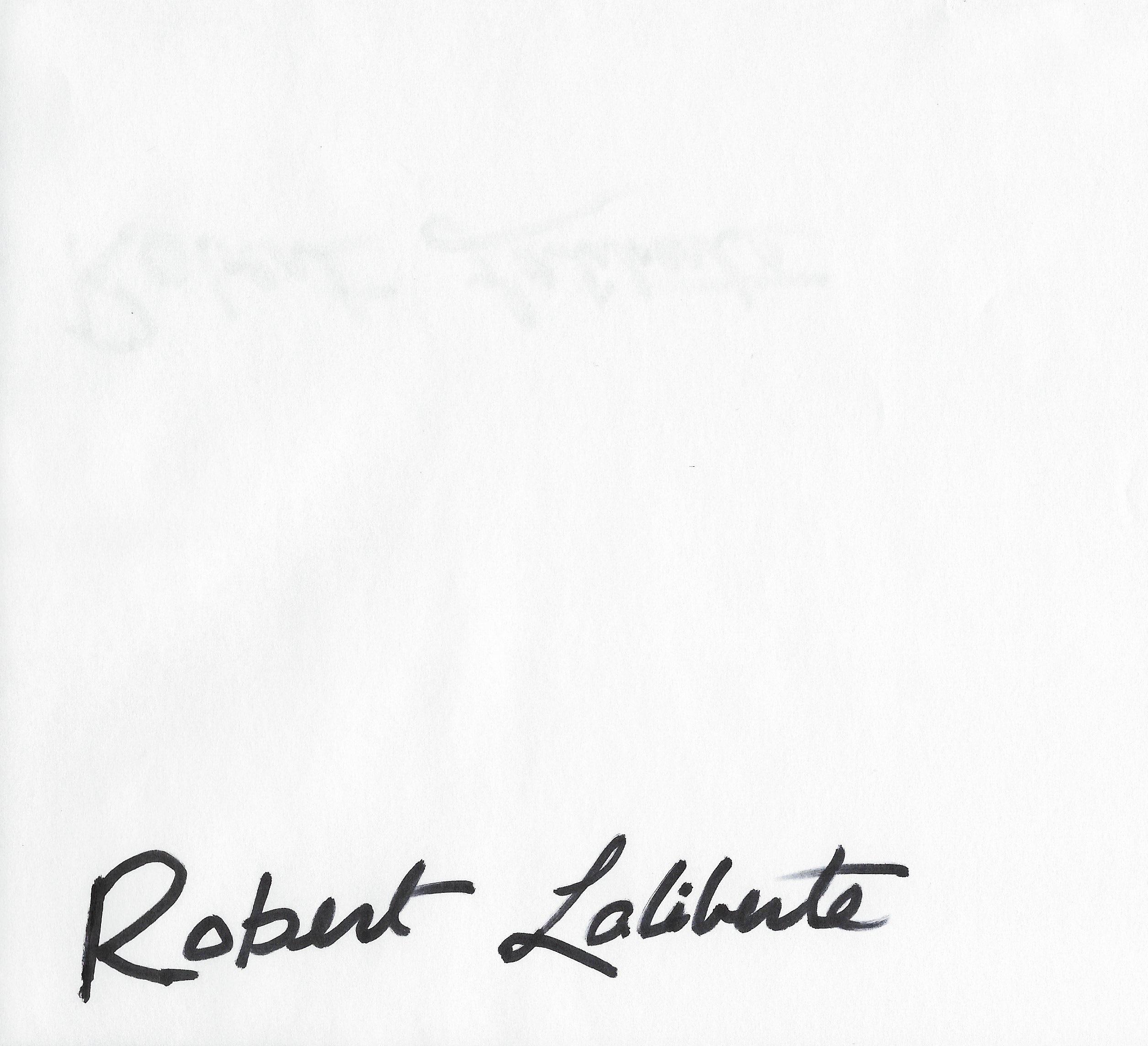 Robert laliberte Signature
