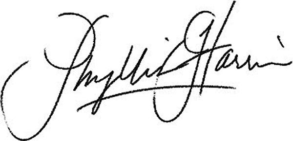 Phyllis Harris Signature