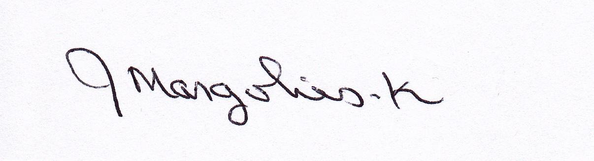 Joan Margolies-Kiernan Signature