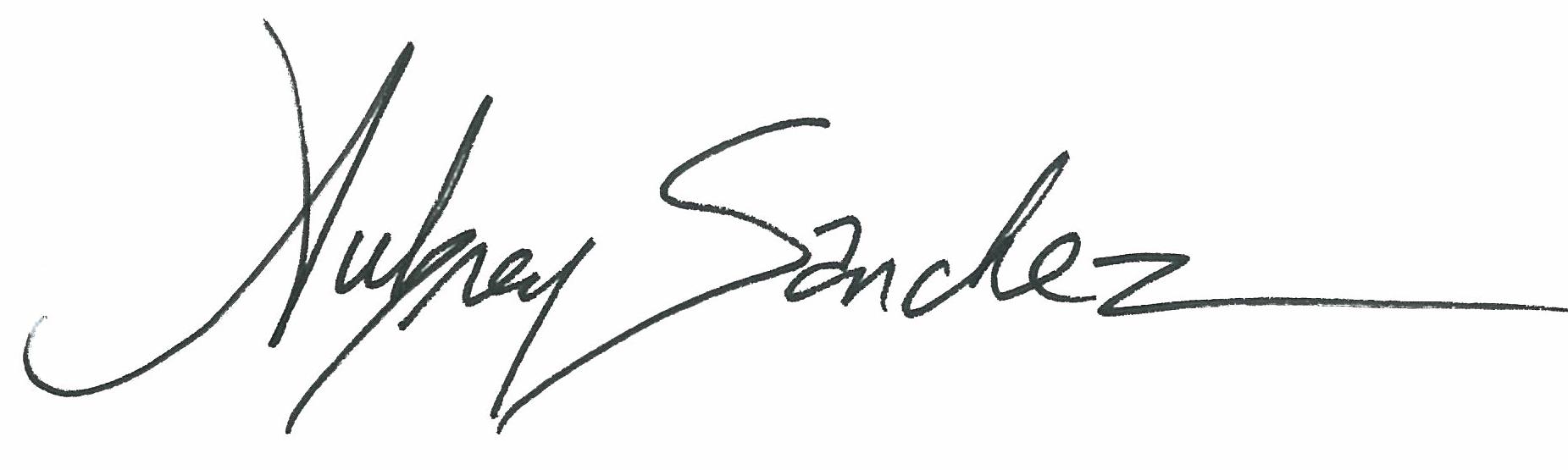 Aubrey Sanchez Signature
