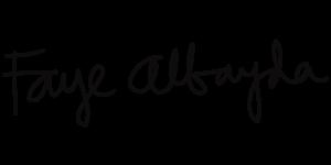 Faye Albayda Signature