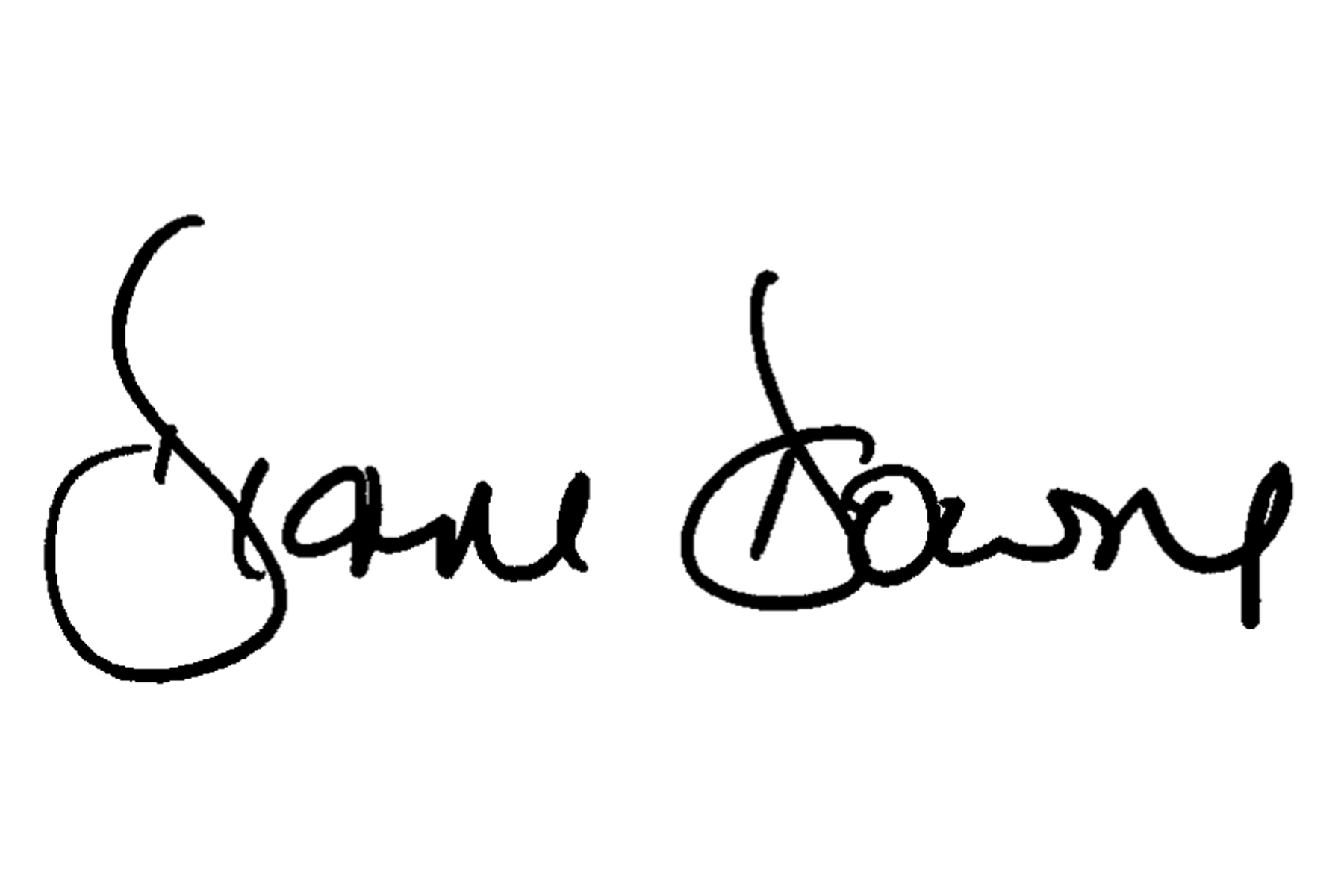 Diane Downs Signature