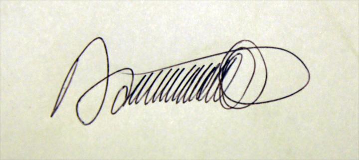 Daniel Jean-Baptiste Signature