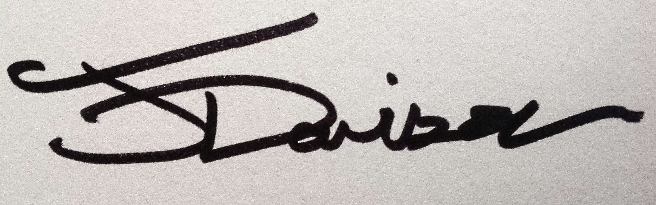 John Davison Signature