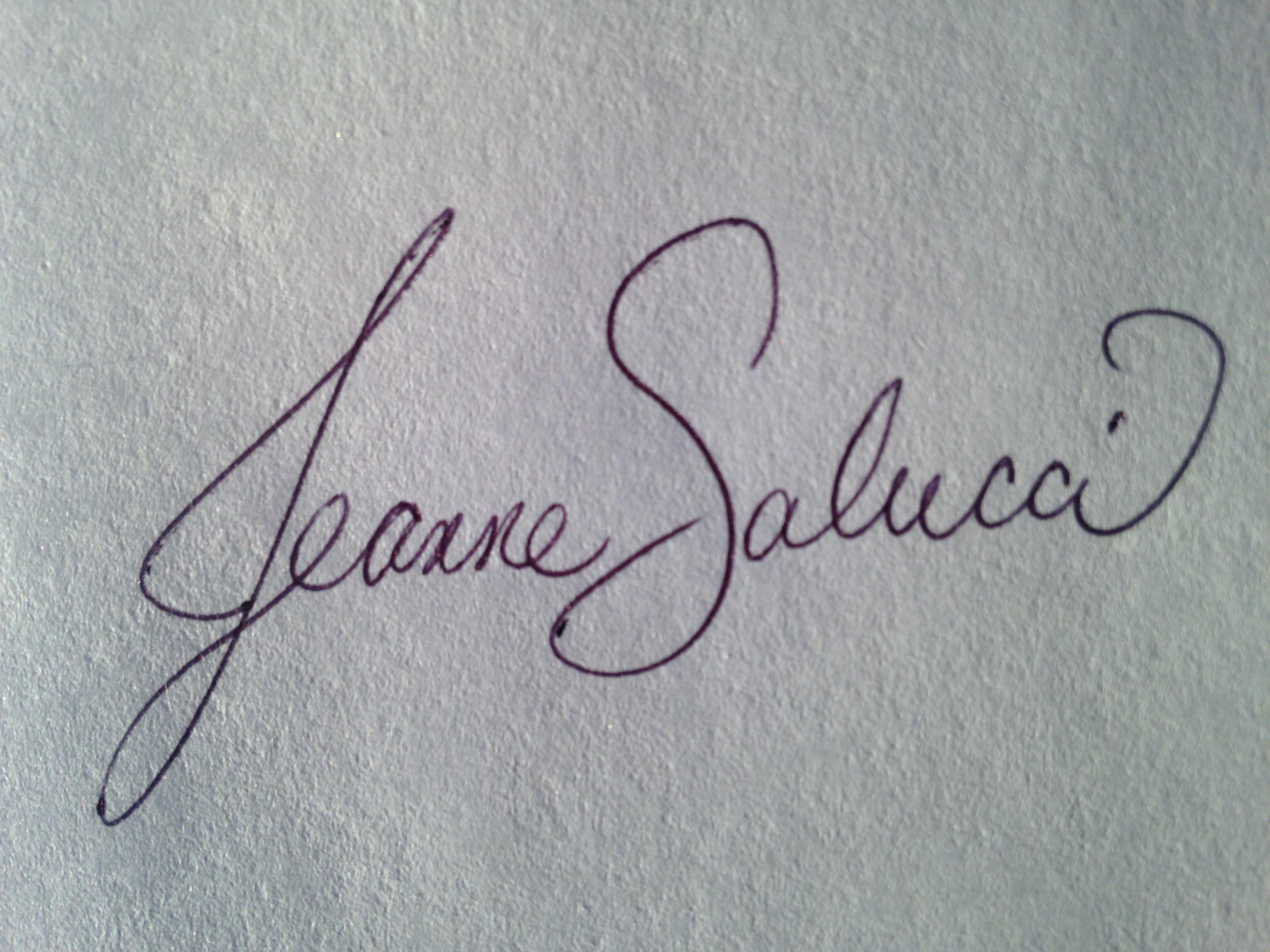 Jeanne Salucci Signature