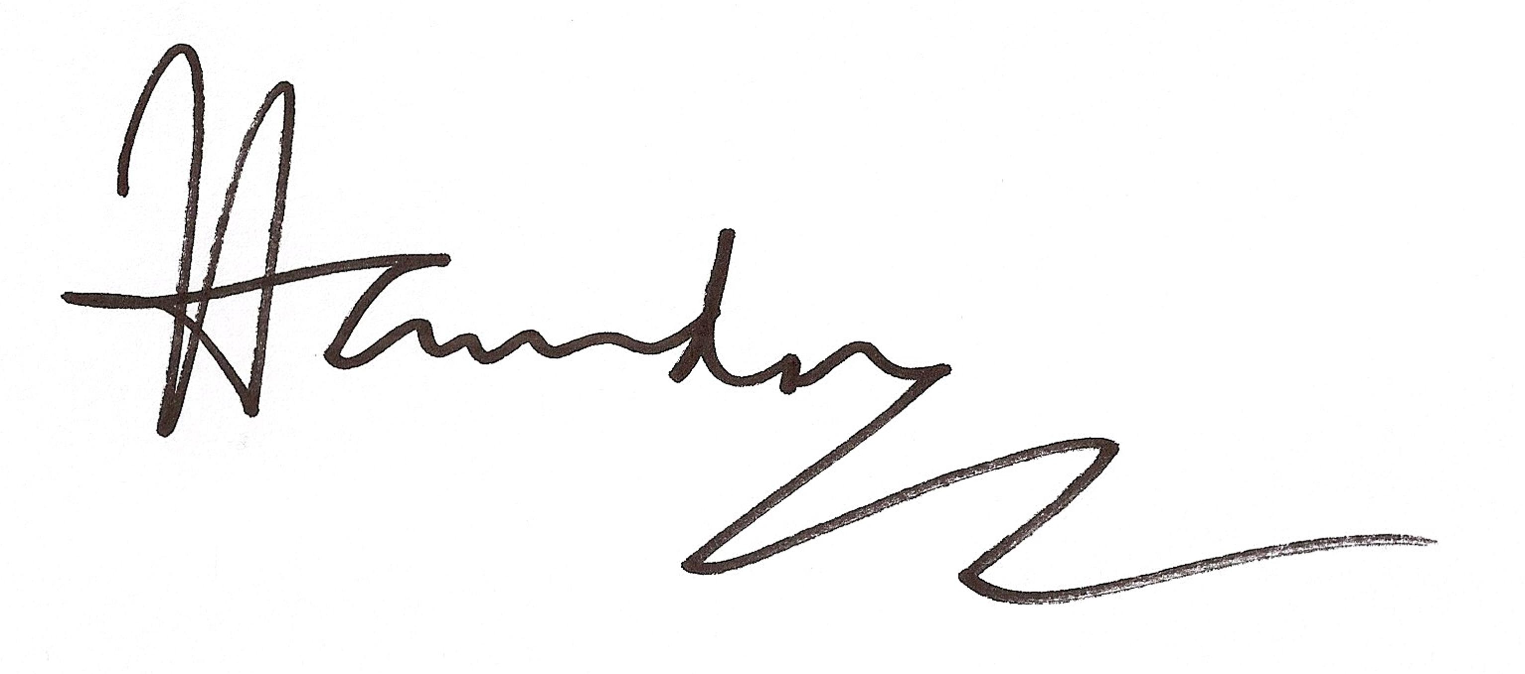 Paul Hawdon Signature