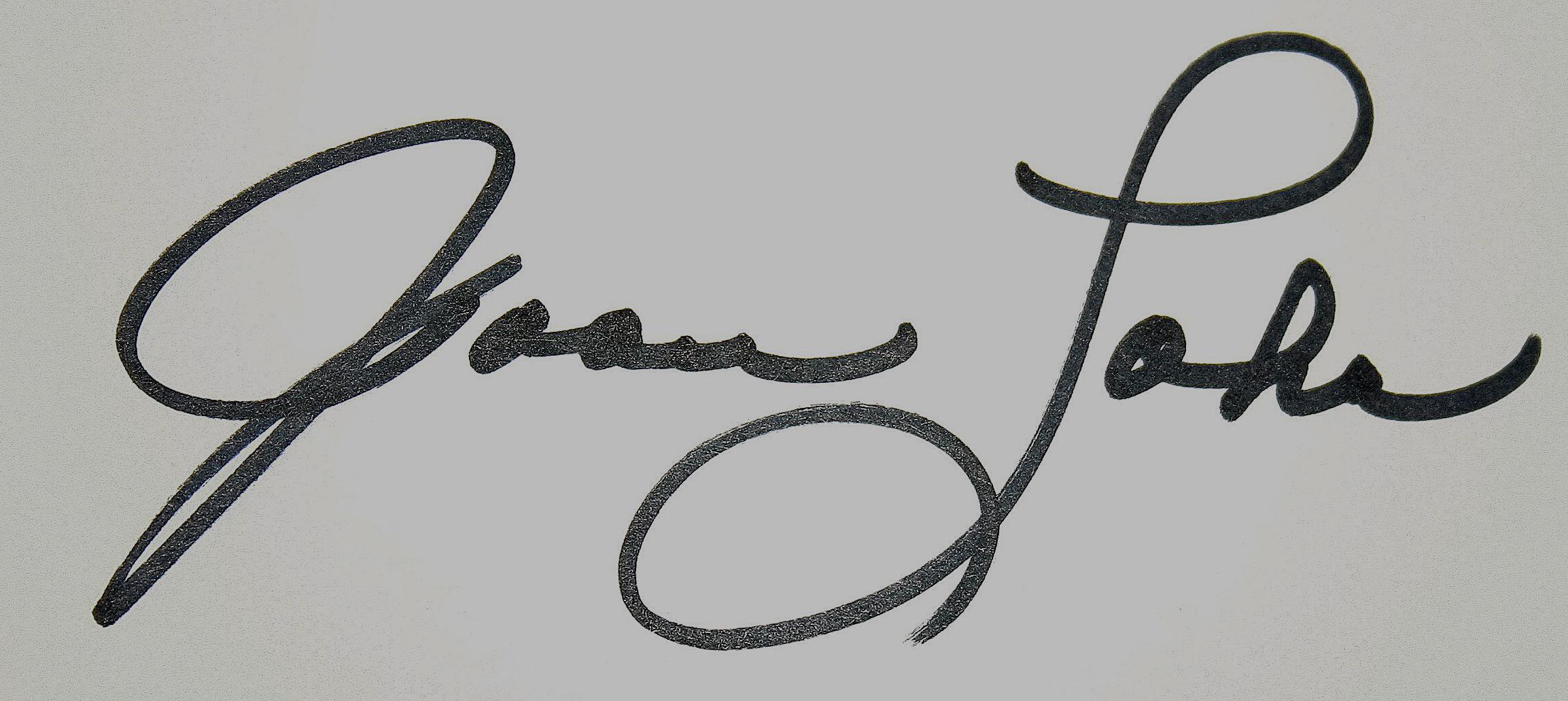 Joan Lohr Signature