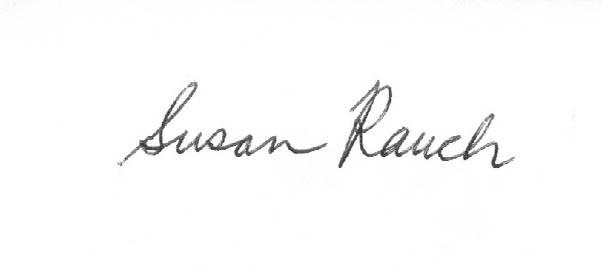 susan rauch Signature