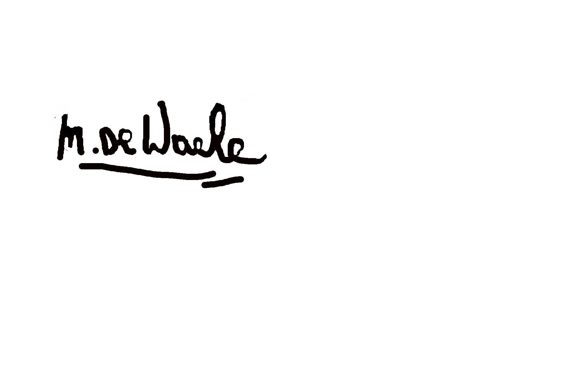 27071960 marleen De Waele- De Bock Signature