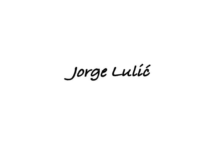 Jorge Lulic Signature