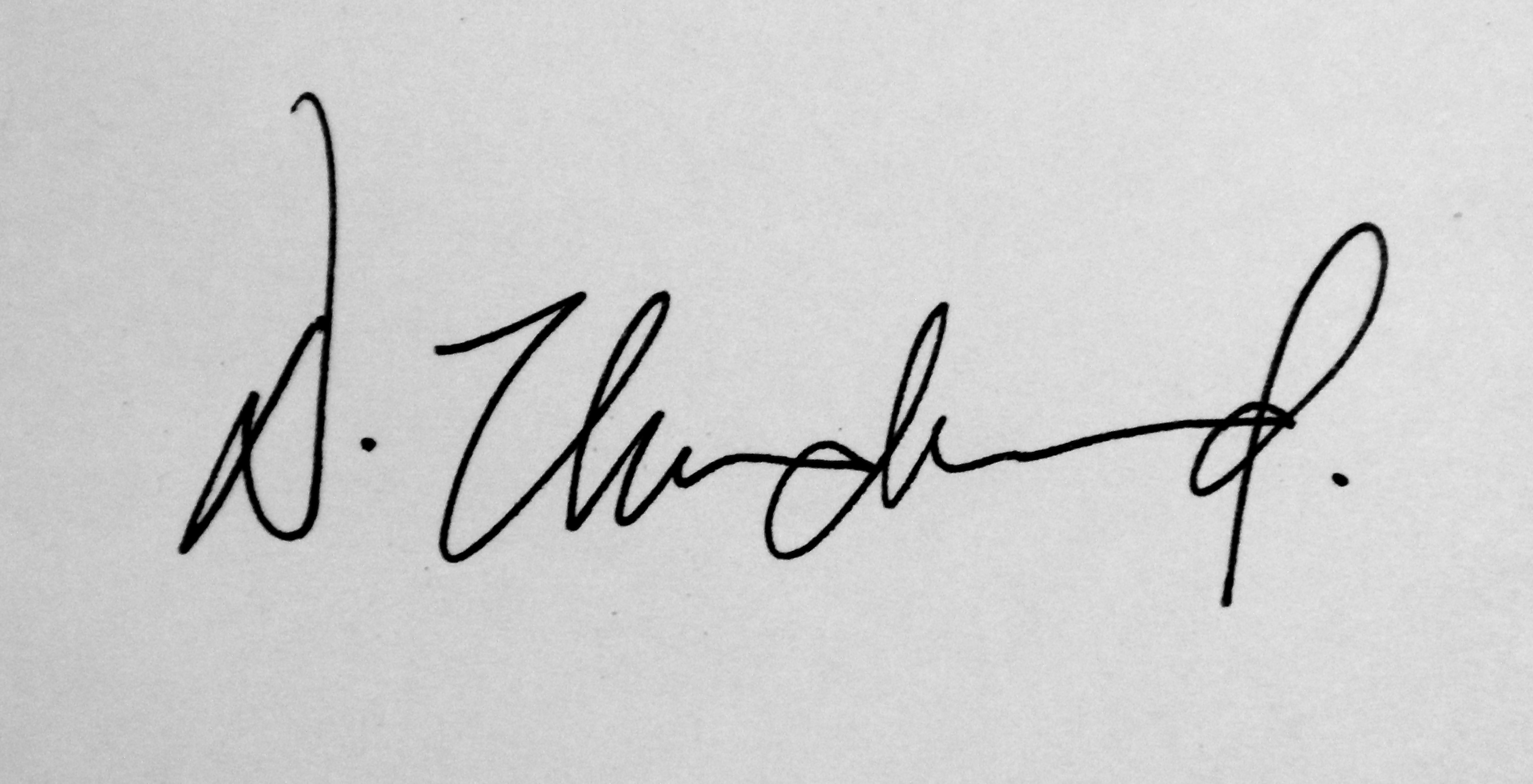 David Underwood Signature