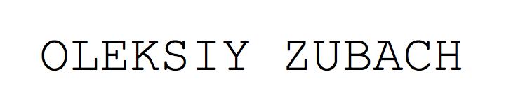 Oleksiy Zubach Signature