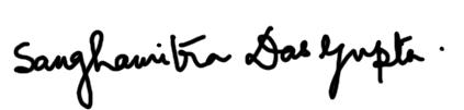 Sanghamitra Dasgupta Signature