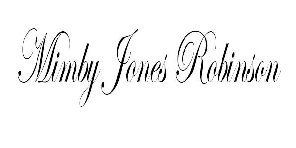 Mimby Jones robinson Signature
