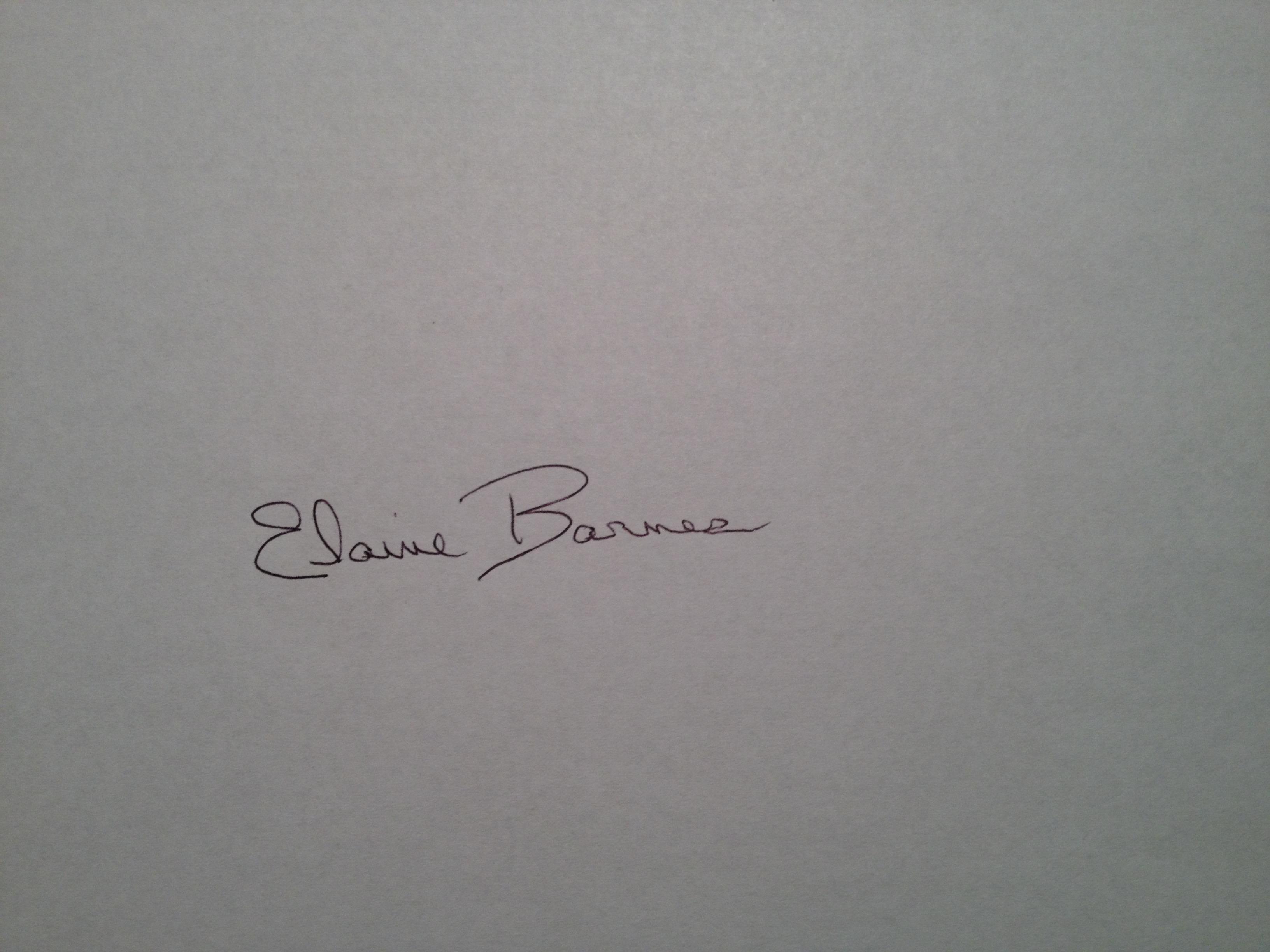 Elaine Barnes Signature