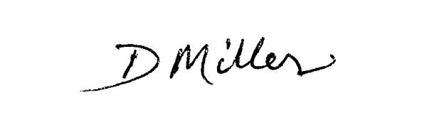 David Miller Signature