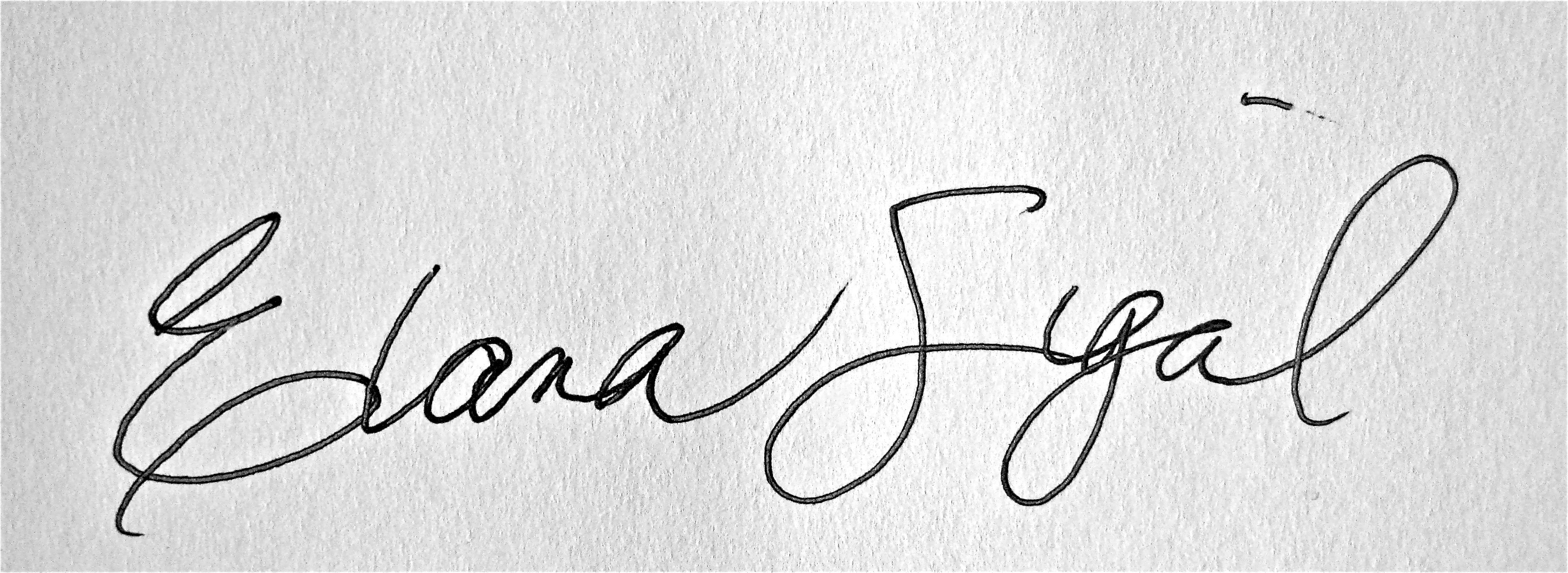 Elana Sigal Signature