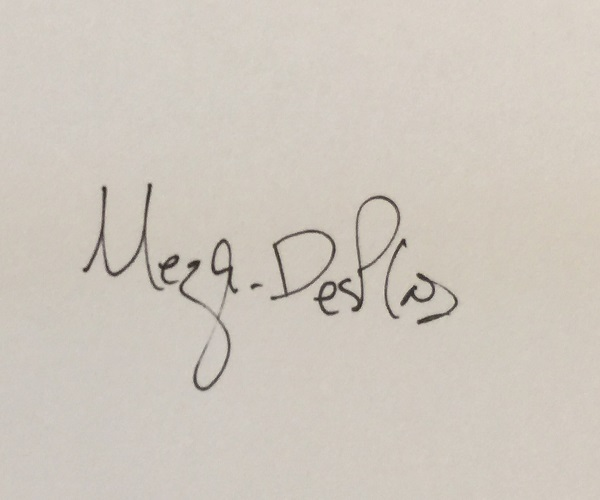Rosemary Meza-DesPlas Signature