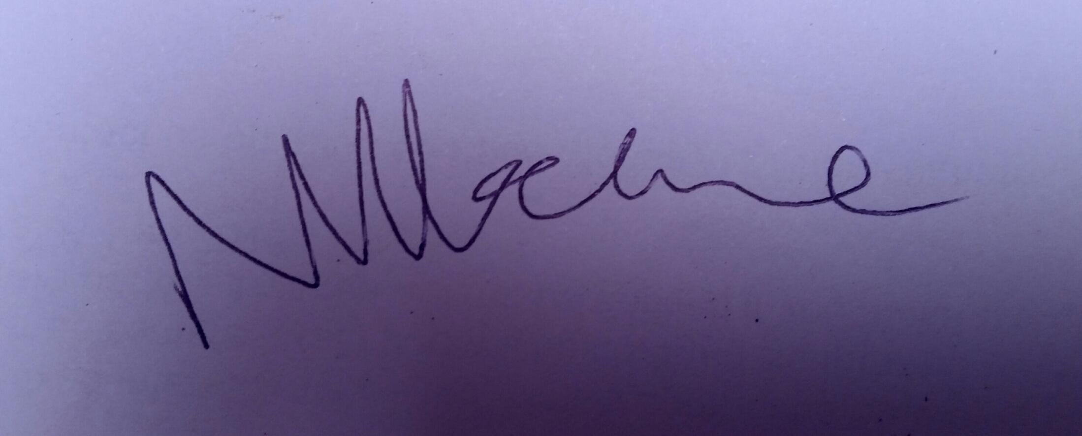 Neil McClure Signature